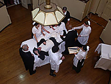 2008 Operation Re-enactment in Pennsylvania Hospital's <br />   surgical amphitheatre